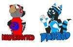 Disenchanted and Biohazard Badges by TheTwistedPuppy