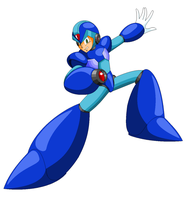 Megaman X artwork Inafune styled by DanmanX5792