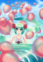 Red Balloons by lilnevie