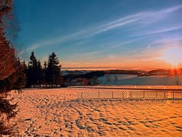 Colorful winter wonderland sundown IV by patrickjobst