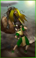Terra vs Toph by What-the-Gaff