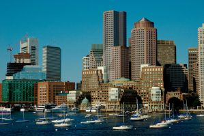 Boston from the Harbor by jplaut92