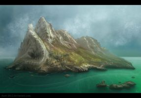 Mountains Speedpaint by Azot2015