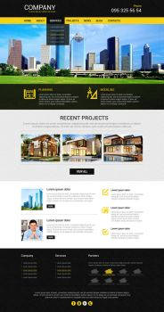 Construction Company Template by Richik