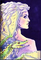 Daenerys and Dragon by kethryn