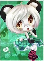 Commission: Panda Chibi by MayomiCCz