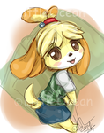 Sketchy Chibi Isabelle by LittleOcean