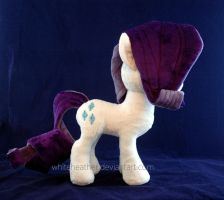 Rarity plushie side by WhiteHeather