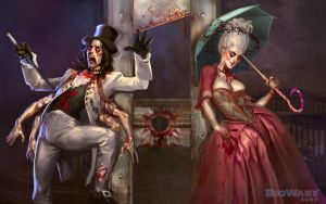 Age of Champions Zombie King and Queen Wallpaper by anotherdamian