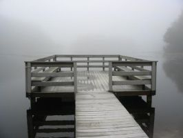 fog on the dock by latticeworkopines