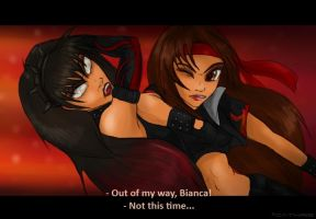 + Black Rose vs Bianca + by Cathaclysm