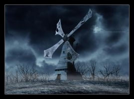 The abandonned windmill by rblokker