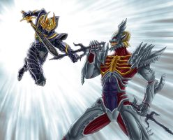 Garo VS Sonshi by gsd748
