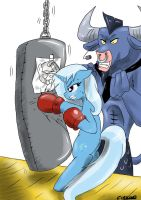 Iron will training Trixie by CIRILIKO