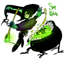 CDC day 18 - Soup Witch by flatw00ds