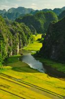 Tam Coc Landscape by catalindragosh