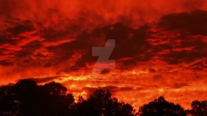 The Sky is on Fire by bmbphotographyalive