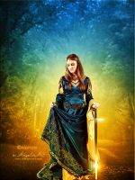 Medieval Lady by AngeliaArt