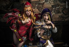 Hearthstone - Valeera and Jaina by Narga-Lifestream