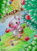 Animal Crossing STA - apple picking by Muukster