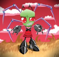 Spooky Zim by Gatobob-Spotty