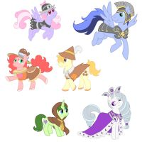 The First Mane Six by Retaya