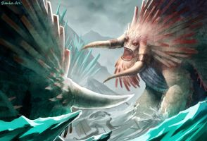 HTTYD2 - Bewilderbeast Battle by Bambz-Art