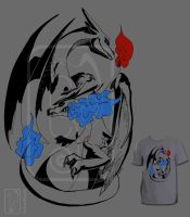 Charizard Design T-Shirt for Neokan by UmbreoNoctie