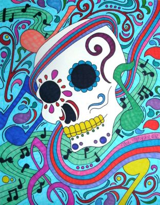 Music Sugar Skull by ToniTiger415