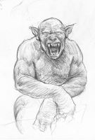 Orc Figure Study by TurnerMohan