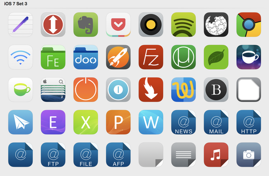 iOS 7 Set 3 by iynque