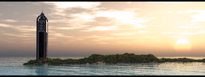Sunset Island by externible