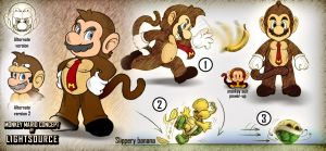 Monkey Mario-concept drawing by xXLightsourceXx