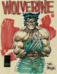 wolverine drink and draw style by urban-barbarian