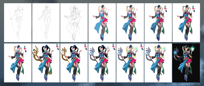 Step by Step - Magical Girl by Zykciv