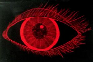 Red Sractchboard Eye by LalahBug