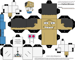 Cubee - Dr. Julius Hibbert by CyberDrone