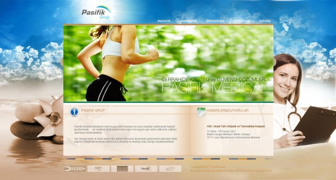 Medical web site by renklisayfa