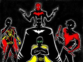 Bat Family ( New 52 Edition ) ( 100 % by Paint ) by slastbeast