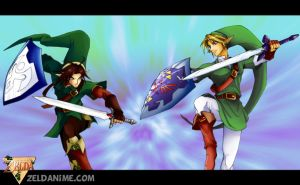 Zeldanime Link vs Oot Link by crazyfreak