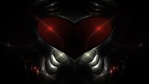Red Robo Heart by tim-bot