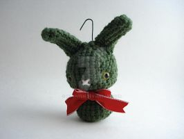 Pickle Moon Bun Ornament by MoonYen