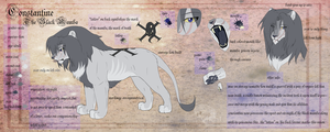Constantine's Ref Sheet by KhanasGhost