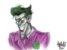 Joker Sketch by aalcaraz78