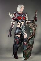 For Great Justice- Warrior Cosplay (Guild Wars 2) by darkestcountryroad