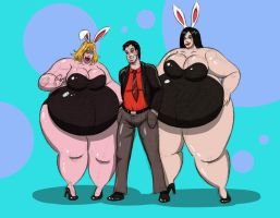 Jim and his bunnies by FatClubInc