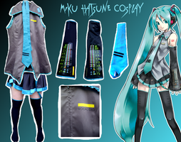 Miku Hatsune Cosplay for Sale by Negative-Cation
