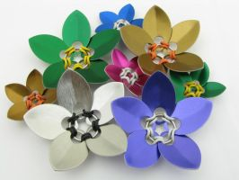 Rubber And Scale Flowers Mixed by BorealisMetalWorks