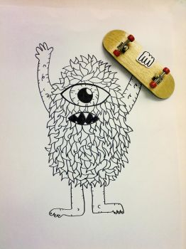 hairy with my new deck by tegar26