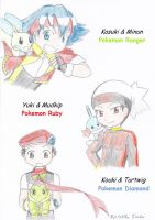 Pokemon Trainers Boys by MikaGx
